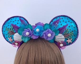 Ariel Minnie Mickey Mouse Ears Little Mermaid Headband