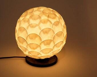 Seashell lamp amde from nonendangered shells for home decor