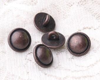 metal buttons 10pcs 10*7mm tiny round buttons zinc alloy shank buttons copper buttons