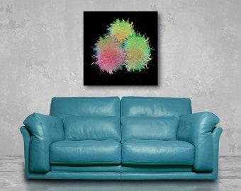 Three Easter Eggs - Printable Social Network (high resolution digital print), wall art, home decor, gift, black