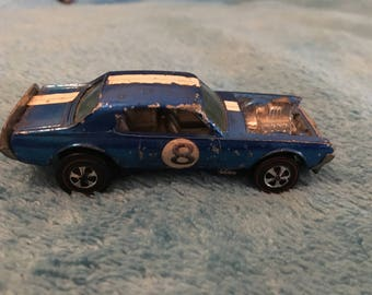 1969 Hot wheels  Redline nitty gritty kitty blue hong kong