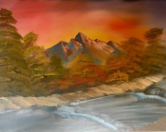 Warm Autumn Oil Painting