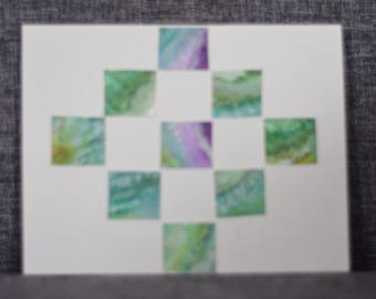 Green and Purple Pattern Card