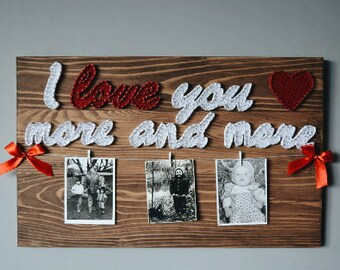 I Love You Wall Art Romantic Bedroom Art Love You More Sign Picture Frame Set Rustic Frame Set Wooden Photo Frame Large Wood Frame 10x10