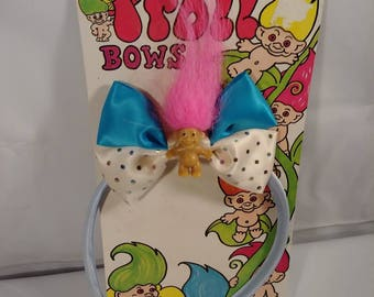 Vintage 90s NOS Troll Doll Bow