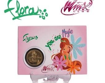 Winx Club Flora Souvenir Coin Card