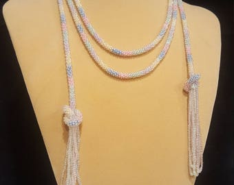 Pastel Bolo Style Necklace