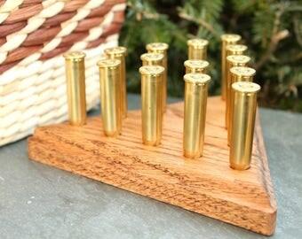 Oak Bullet Peg Game - Outdoorsman Gift - Man Cave Game - Game Room - Gift For Him - Hunters Gift - Gun Ammo Bullet Gift - Mens Gift - Bullet