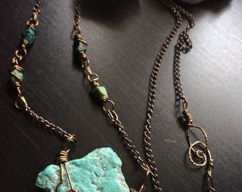 Turquoise Hanger Necklace