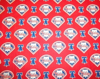 Philadelphia Phillies Cotton Fabric by the Yard