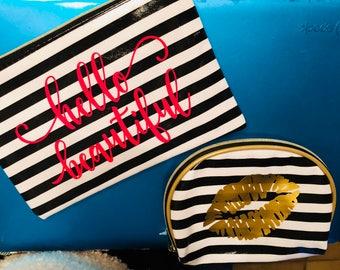 Hello Beautiful cosmetic bag set
