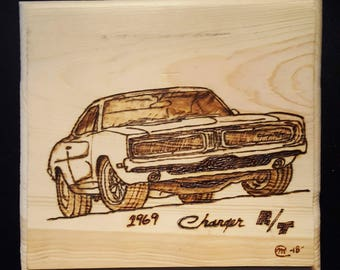 1969 Dodge Charger Wood Burning