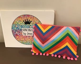 Dolled up Rainbow pouch