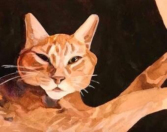 "Custom Pet Portrait, Simple Background 6""x4"""
