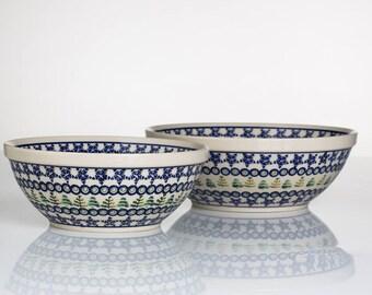 Polish Pottery Boleslawiec, Set of two Bowls