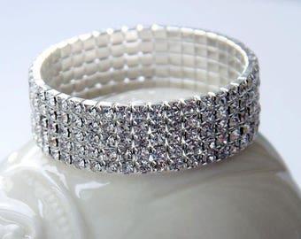 Crystal Bracelet , Wedding Jewelry, Shining Bracelet