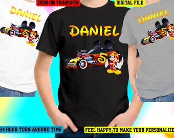 Mickey Roadster Racer Iron On Transfer, Mickey Roadster Racer Birthday Shirt Iron On Transfer,Personalize Iron On Transfer,Digital File Only