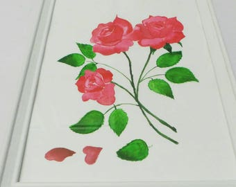 A4 size painting theme roses