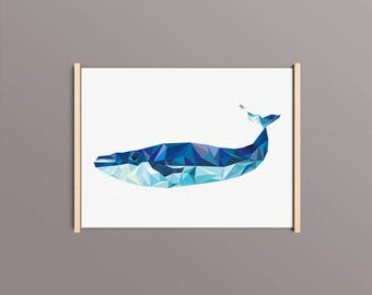 """Poster """"Whale"""" 30 x 40"""