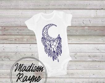 Moon Dreamcatcher Onesie, Baby Clothes, Unisex Baby Onesie, Baby Clothing, Baby Shower Gift, Moon Dreamcatcher Bodysuit