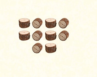 10 Psc Wooden Table Numbers Holders