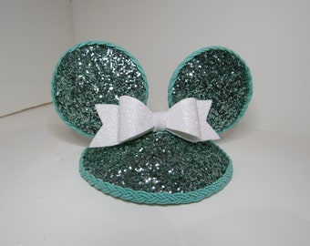 Tiffany & Co. inspired mouse ears fascinator hat