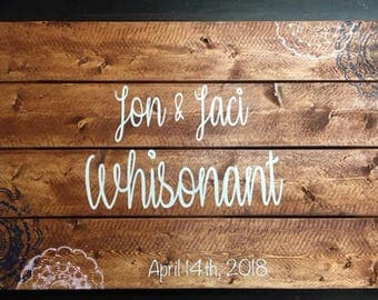 Wooden Pallet Wedding Guestbook