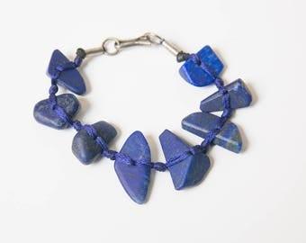 Lapis Lazuli Bracelet, Blue Stone Bracelet, Lapis Bracelet, Natural Stone Jewelry