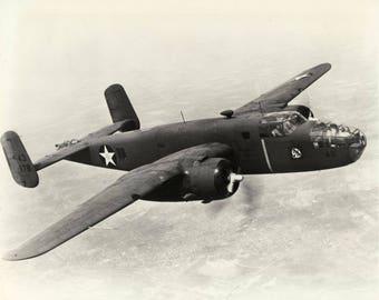 5x7 Photo. Vintage Air Plane. B 25 Doolittle Raid 1942