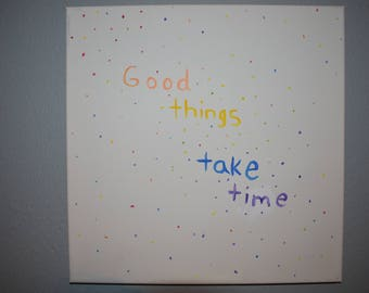 Good Things Canvas
