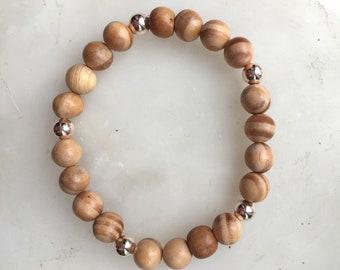 Indonesian Light Wood Boho Style Bracelet