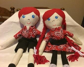 Homemade cloth dolls
