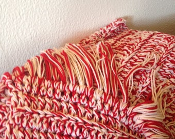 Hand Crafted one of a kind Crochet Afghan.