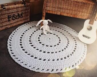 Crochet Tshirt Yarn Mandala Rug