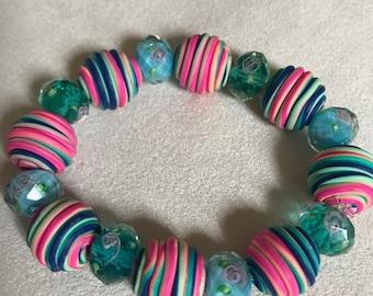 pastel rainbow bracelet