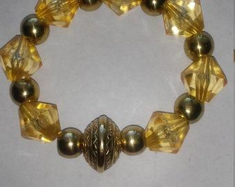 Gold gem bracelet