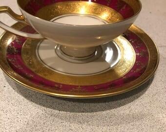 Porzellan tea cup and saucer 1921 marked