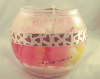 Gel candle on water
