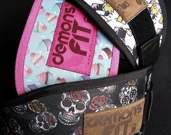 Velcro Lifting Belt/cupcake/sugar skull/dap unicorn