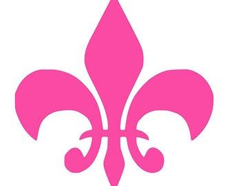 Bright pink Fleur De Lis Vinyl Decal