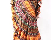25Yard Tribal Gypsy Durga Skirt
