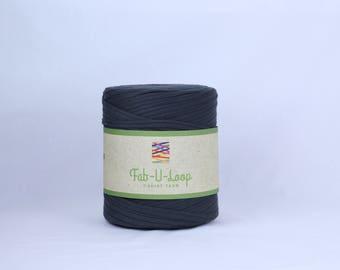 "T-Shirt Yarn -""Charcoal""  ~160 yards, 130 m"