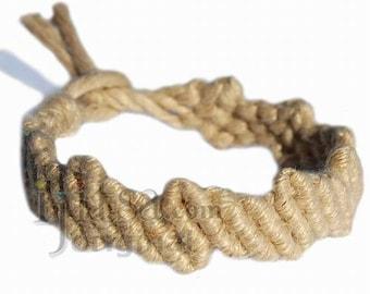 Natural hemp Lightning bracelet or anklet