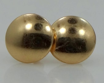 14k Gold Vintage Disk Earrings