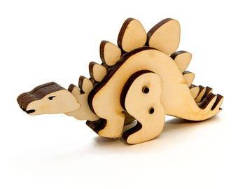 Wooden Dinosaur Toy - Kit