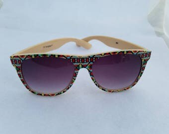 Vintage 1990's Aztec Print Sunglasses NY Sunglass™
