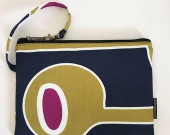 Clutch bag -Navy