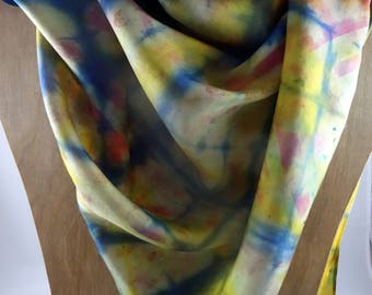 Hand Painted Silk Scarf #44 FREE SHIPPING