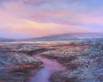 Dusk, Opalescent  Twilight.   Original Fine Art, Oil Painting by Griselda Tello.