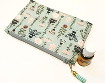 Made to Order Custom Essential Oil Pouch Cosmetics Travel Bag